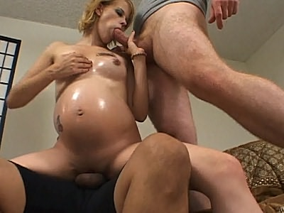 golden haired girl Preggo Threesome Sex